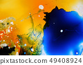 Colorful liquids mixed together to abstract shapes 49408924