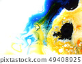 Colorful liquids mixed together to abstract shapes 49408925
