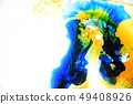 Colorful liquids mixed together to abstract shapes 49408926