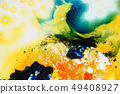 Colorful liquids mixed together to abstract shapes 49408927