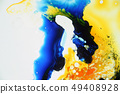 Colorful liquids mixed together to abstract shapes 49408928