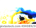 Colorful liquids mixed together to abstract shapes 49408929
