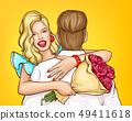 Marriage proposal celebration cartoon vector 49411618