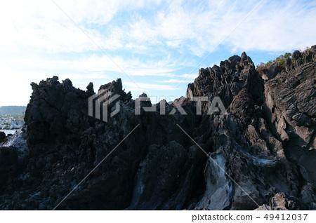 제주 해안,용암,바위, 49412037