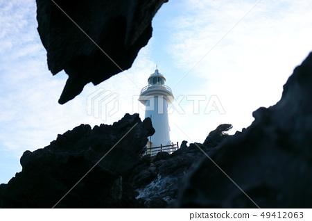 제주 해안,용암,바위,등대 49412063