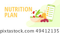 Diet and nutrition concept Nutritionists planning 49412135