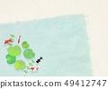 日本纸 - 日本绘画 - 金鱼 - 夏天的问候 - 凉爽的感觉 - 水 - 荷叶 49412747