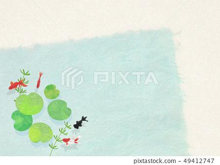 종이 - 일본 화 - 금붕어 - 여름 안부 - 청량감 - 물 - 연꽃 잎 49412747