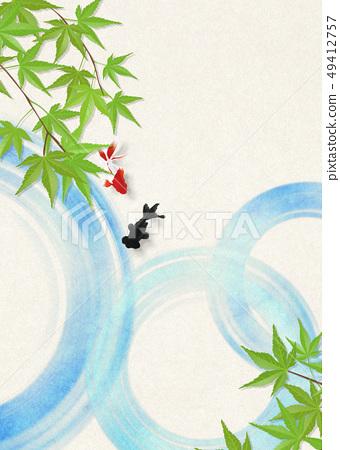 종이 - 일본 화 - 금붕어 - 여름 안부 - 청량감 - 물 - 푸른 단풍 49412757