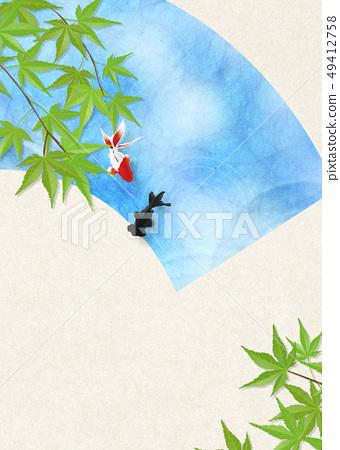 종이 - 일본 화 - 금붕어 - 여름 안부 - 청량감 - 물 - 부채 49412758