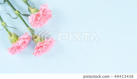 母親節Yasuno Kaoru Sendoku卡片優雅康乃馨頂視圖母親節 49413436