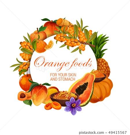 Color diet, orange food healthy nutrition fruits 49415567