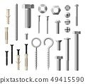Construction metal fasteners screws and bolts 49415590