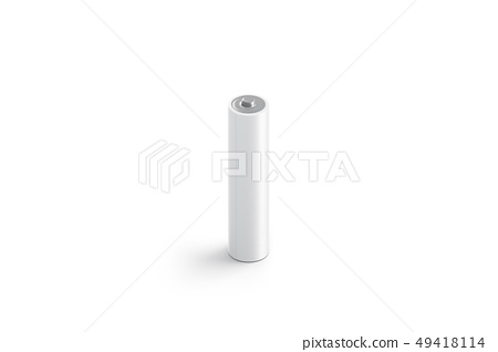 Blank white power battery mock up, isolated 49418114