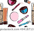 Seamless pattern of different make-up tools.Vector 49418713