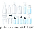 cosmetic care product in bottle 49418962