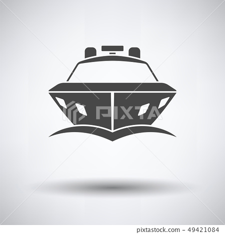 Motor yacht icon front view 49421084