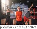 stretching, stretch, boxer 49422824