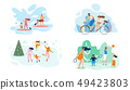 Summer Weekend on River Whole Family Vector Flat 49423803