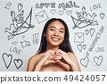asian, card, doodle 49424057