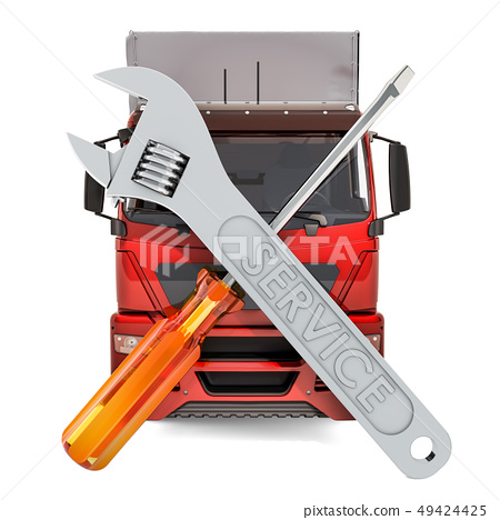 Truck, Lorry and Van Repair and Service concept 49424425