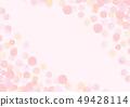 手寫的水彩風格背景材料 49428114