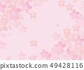 櫻花水彩背景材料 49428116