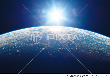 Earth and the sun 49429293