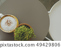 Coffee on the desk, copy space background 49429806