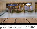 Wooden on front blurred abstract background 49429820