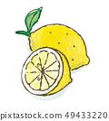 레몬 수채화 49433220