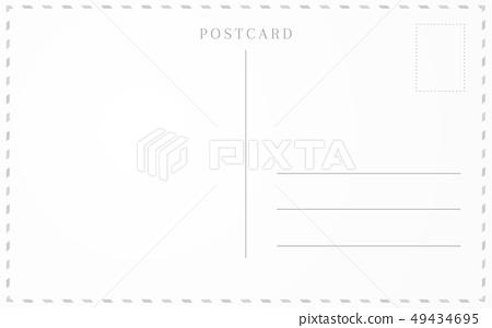 Old postcard template. Post card frame design. 49434695