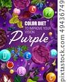 Vitamin berries and vegetables. Purple color diet 49436749