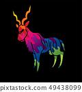 Kudu standing graphic vector. 49438099