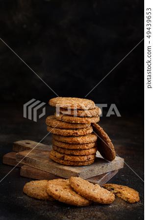 Homemade oatmeal cookies 49439653