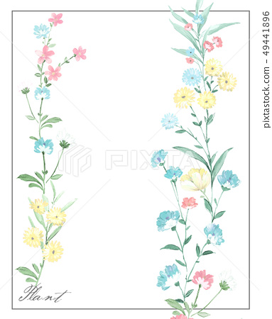 Elegant hand-painted small flower pattern 49441896
