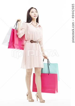 쇼핑,쇼퍼홀릭,비즈니스우먼,젊은여자 49442985