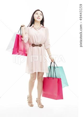 쇼핑,쇼퍼홀릭,비즈니스우먼,젊은여자 49443159