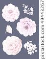 美麗的水彩花卉和邀請卡設計 49443267