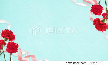 배경 - 카네이션 - 어머니 날 - 블루 49445380