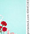 배경 - 카네이션 - 어머니 날 - 블루 49445383