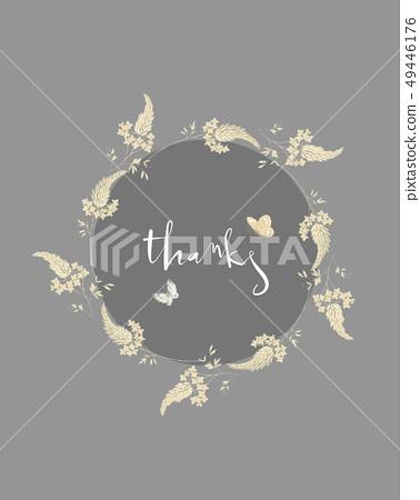 예술적 수채화 꽃과 벽지 디자인 49446176