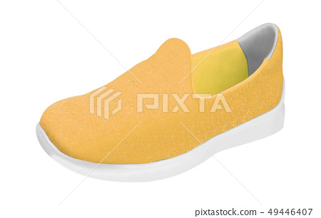 Colorful orange running and fashion sneaker shoe 49446407
