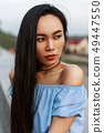 Beautiful portrait of a cute Asian girl 49447550