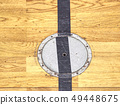 Circle cover plug for sport equipment in floor of 49448675