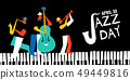 International Jazz day poster of live music band 49449816