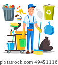 Janitor Man Vector. Cleaner Janitor Worker In Uniform. Professional Service. Illustration 49451116