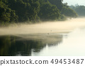Clear stream of morning mist Clear stream of morning river 49453487