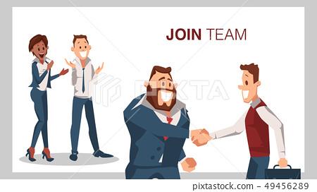 Join Team Successful Job Interview Man Shake Hand 49456289