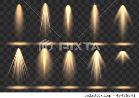 Bright lighting with spotlights 49456841